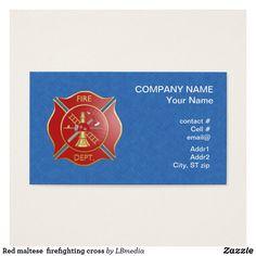 39 best firefighter business cards images on pinterest red maltese firefighting cross business card colourmoves