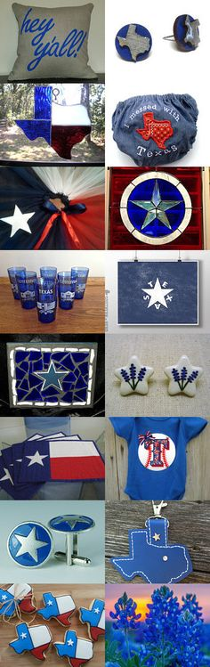 Desert Texas Patriotic Blues and Reds by V. Dotter on Etsy--Pinned with TreasuryPin.com