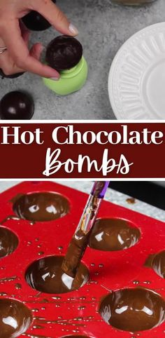 Hot Chocolate Gifts, Christmas Hot Chocolate, Chocolate Diy, Homemade Hot Chocolate, Chocolate Bomb, Hot Chocolate Recipes, Melting Chocolate, Fun Baking Recipes, Sweet Recipes