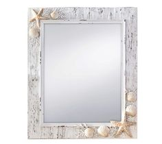 Wall Mirror Mount Beach Seashell Ocean Sea Coastal Bedroom Bathroom Livingroom #Prinz #Tropical