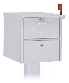 Roadside Mailbox - Silver by Salsbury Industries. $129.84. Made entirely of aluminum, Salsbury USPS approved 4300 series roadside mailboxes feature both a front and rear access locking door. Available in a black, white, green or silver powder coated finish, each unit includes an outgoing mail tray, a lock with two (2) keys on each door (keyed alike) and an adjustable red signal flag. Mail is deposited through a non-locking access panel on the front. Roadside mailboxes can be ...