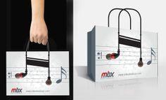 Notalı Çanta Tasarımı - MBX..  #yaratıcı #reklam #nota #çanta #kulaklık #creative #box