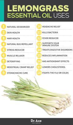 Lemongrass Oil Uses http://www.draxe.com #health #holistic #natural