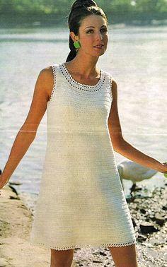 1960's Easy Crochet Shift Dress