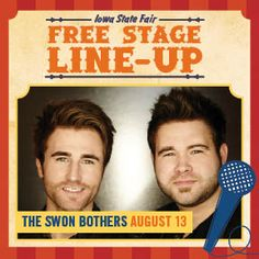 See the list of performers at the Susan Knapp Amphitheater during the Iowa State Fair. Did I mention the shows are free? Iowa State Fair, August 13, Rock Legends, Stage, Entertaining, Free, Hilarious, Scene