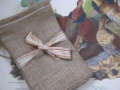 Set of 5 Burlap Favor Bags with Jute Tie by PrinceSnowFarm on Etsy, $6.00