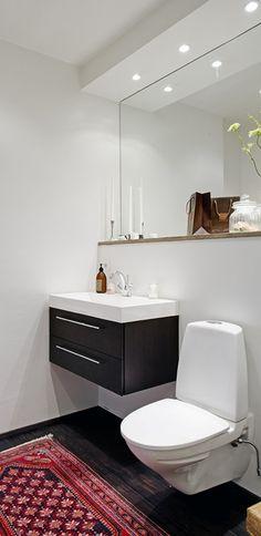 Para banheiros pequenos...