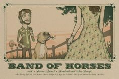 band of horses  music gig posters | Band of Horses concert poster