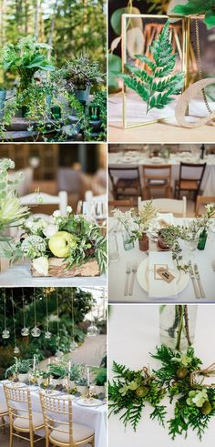Greenery Wedding Decor Inspiration