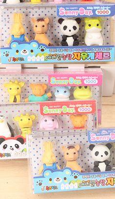 Kawaii Iwako eraser animal sets