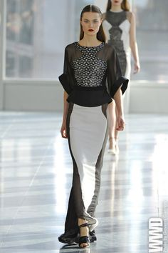I know these clothes don't suit me now, but maybe when I'm a fabulous 30-something year old I'll be able to wear something this chic. Antonio Berardi RTW Fall 2013
