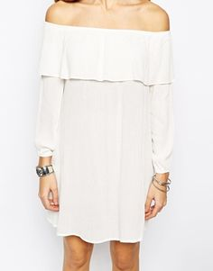 Enlarge Glamorous Off Shoulder Dress With Frill Bust - $40