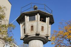 prison tower with walk around on top Potsdamer Platz, Berlin Wall, Towers, Prison, Outdoor Decor, Image, Watch, Top, Clock