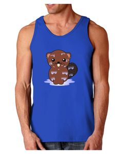 TooLoud Cute Wet Beaver Dark Loose Tank Top