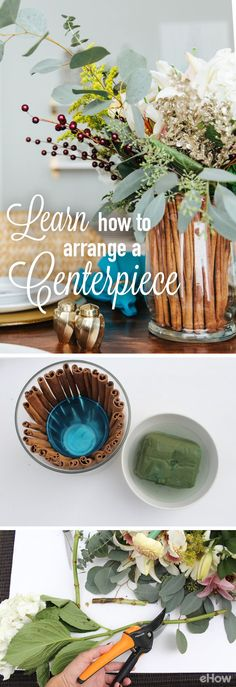 Learn how to tailor each floral centerpiece to match your home, style and every… Art Projects, Projects To Try, Green Zone, Bunch Of Flowers, Floral Centerpieces, Reno Ideas, Home Repair, Natural Texture, Pottery Ideas