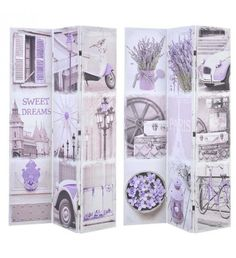 CANVAS PRINTED SCREEN PARIS 120X2X180 (DOUBLE SIDE)