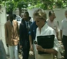 January 15, 1997: Diana, Princess of Wales at the International Red Cross headquarters in Luanda, Angola.