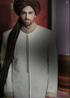 Latest Fashion Men Wedding Dresses & Sherwani Designs Collection by Amir Adnan Wedding Outfits For Groom, Wedding Dress Men, Best Wedding Dresses, Wedding Men, Wedding Groom, Wedding Ideas, Ethnic Wear Indian Men, African Attire For Men, Sherwani Groom