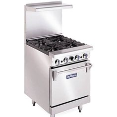 """Imperial IR-4 - Gas Range - 24"""" - 4 Burners - 1 Space Saver Oven"""