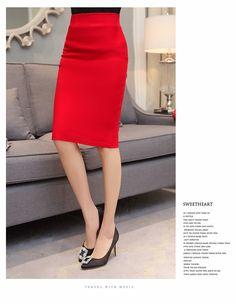 Elegant High Waist Work Slim Pencil Skirt - Uniqistic.com