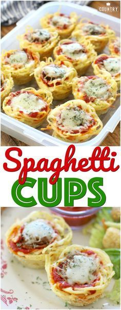 Sausage Spaghetti Cups with Johnsonville Italian Sausage. A recipe from The Country Cook. #ad #kidfriendly #backtoschool #easy #fallrecipes