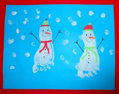 Bonhomme de neige - empreinte de pied