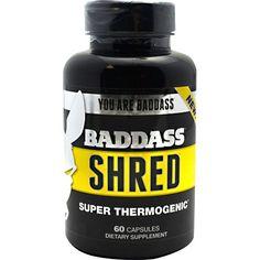 Baddass Nutrition Baddass Shred 60 Caps Potent Fat Burner