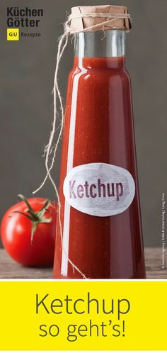 Klassisches Ketchup selbst gemacht If the ketchup should go out or you want to vary in the taste: We have a recipe for classic ketchup. Since you know what's in it and your creativity to refine are no limit. HERE TO THE SAUCEN KING: www. Healthy Eating Tips, Healthy Nutrition, Healthy Fruits, Healthy Snacks, Sauce Recipes, Pasta Recipes, Homemade Ketchup, Sauces, Diy Snacks