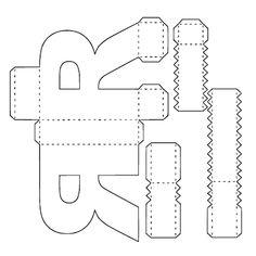 Letras Png ,svg ,pdf ,silhouette no Cardboard Letters, Diy Letters, Printable Letters, Alphabet 3d, Alphabet Templates, Diy Gift Box, Diy Box, Paper Toys, Paper Crafts