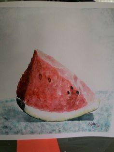 watermelon watercolor Watermelon, Fruit, Food, Meal, The Fruit, Essen, Hoods, Meals, Eten