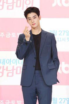 My ID is Gangnam Beauty Press Conferene Cha Eun Woo, Asian Actors, Korean Actors, Pretty Boys, Cute Boys, Ahn Hyo Seop, Cha Eunwoo Astro, Lee Dong Min, Ong Seung Woo
