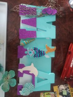Mermaid Names, Name Decorations, Frame, Ideas, Home Decor, Hair Ornaments, Meet, Picture Frame, Decoration Home