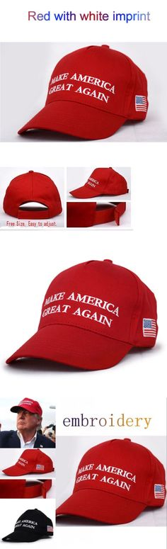 donald trump: 2016 Make America Great Again Donald Trump Red Hat Republican Embroidered Cap Uu -> BUY IT NOW ONLY: $2.35 on eBay!