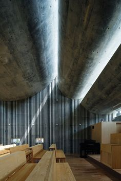 Shonan Church by Takeshi Hosaka - such a beautiful ceiling