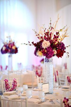 not our colors but I like the fill in the tall vases