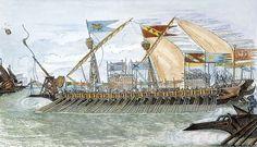 Venetian galley at Curzola-engraving - Repubbliche marinare - Wikipedia