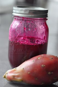 Prickly Pear pear syrup for margaritas or for a savory gastrique with a little added vinegar Prickly Pear Margarita, Prickly Pear Cactus, Pork Loin, Pork Roast, Prickly Pear Recipes, Cactus Recipe, Pear Sauce, Salsa, Drinks Alcohol Recipes