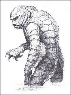 Creature From The Black Lagoon by Berni Wrightson (1969)