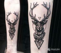 Deer dotwork tattoo by Masachist on DeviantArt