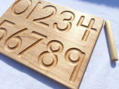 Wooden Number Counting Tracing Board Waldorf Montessori School