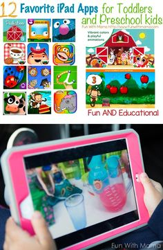 Favorite iPad Apps for Kids, Best Educational Apps for Kids, Educational Tablet Games, Educational Preschool Apps Best Apps For Preschoolers, Educational Apps For Toddlers, Educational Apps For Kids, Learning Apps, Games For Toddlers, Video Games For Kids, Educational Activities, Free Preschool, Toddler Preschool