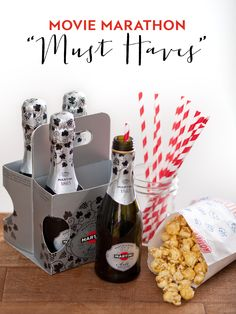 Throw a Mini Movie Marathon with MARTINI Minis and your favorite flicks. Pair MARTINI Asti with sweet treats like candied popcorn!