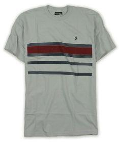 8a150ede Volcom Mens Striped Graphic Front Logo Graphic T-Shirt - 007 - $13.99  #Volcom