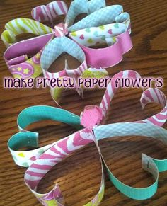 How to Make a Pretty Paper Flower