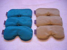 cojines de relajación facial, rellenos de semilla de lino