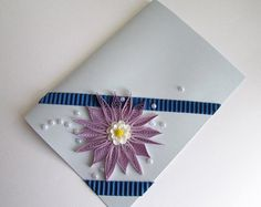 Pastel Quilling Flower Card Set Set of 3 by GermanistikArt on Etsy