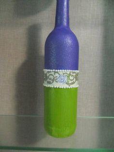Garrafa decorativa tema flor/ Decorative flower theme bottle
