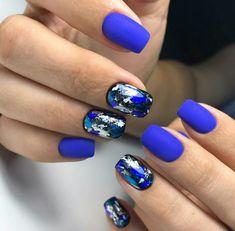 #nails#nailpolish#гельлак#TUFIProfi№174#ногти#polish#beautiful#фольга#синийманикюр##girl Nails Foil, Foil Nail Art, Shellac Nails, Gel Manicure, Acrylic Nails, Manicure Types, Gel Nail Tips, Dark Nails, Blue Nails
