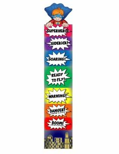 behavior clip chart for PBIS! This also comes with a number line, word wall headers, table numbers, desk nametags and locker nametags. Love the idea of a superhero theme! 2nd Grade Classroom, Classroom Behavior, Classroom Displays, Kindergarten Classroom, Classroom Themes, School Classroom, Classroom Organization, Superhero School Theme, Superhero Room