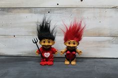 Set of Two Valentines Love Troll Dolls by Russ' by TheDapperLemons